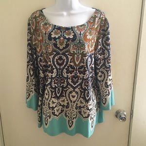Floral filigree blouse PXL